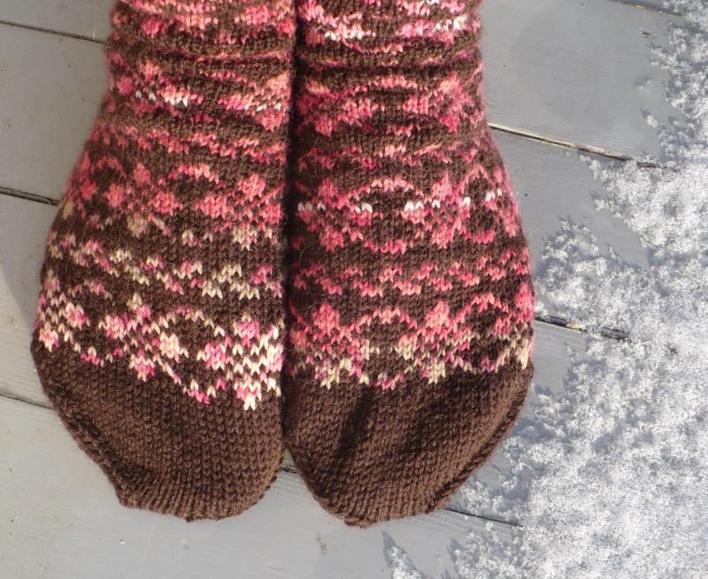 Fair Isle Socks - Lynn Carson Harris