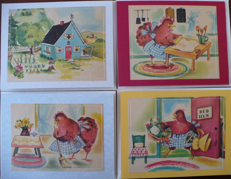 Little red hen note cards