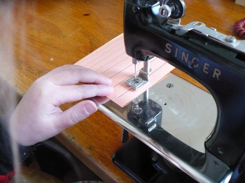 She sews