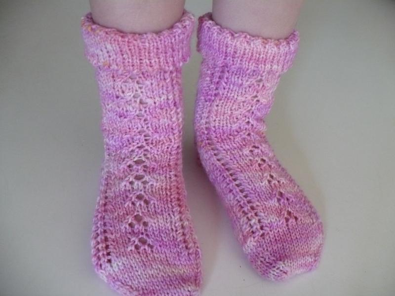Pink socks 1