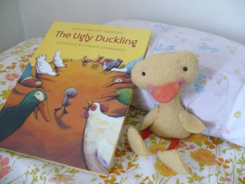 Ugly duckling and book
