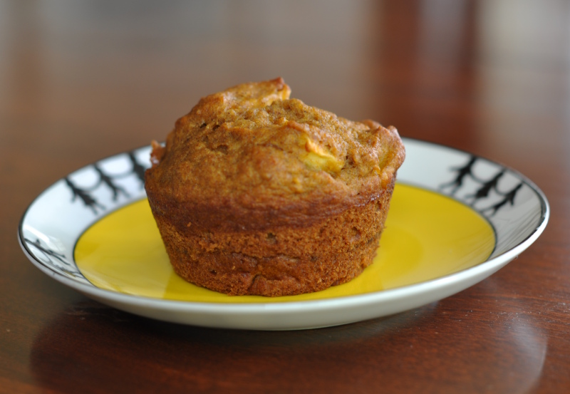Apple pumpkin muffin