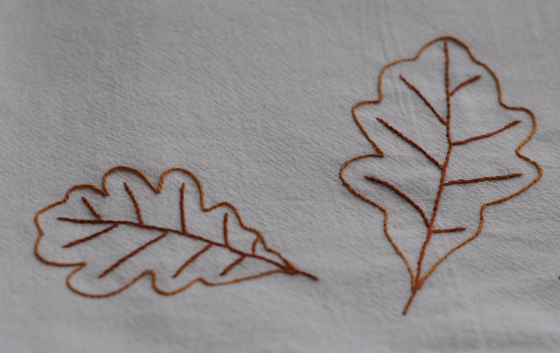 Oak leaves 3