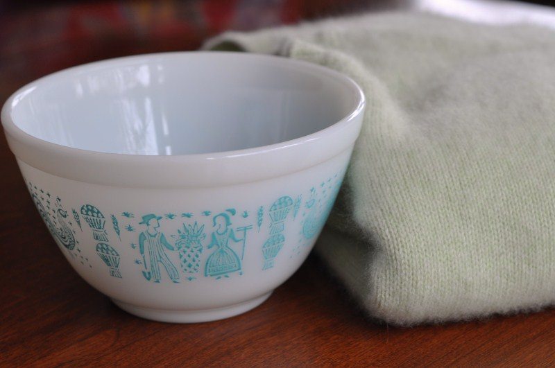 Winter thrift pyrex and cashmere