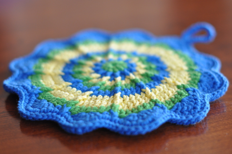 Potholder blue