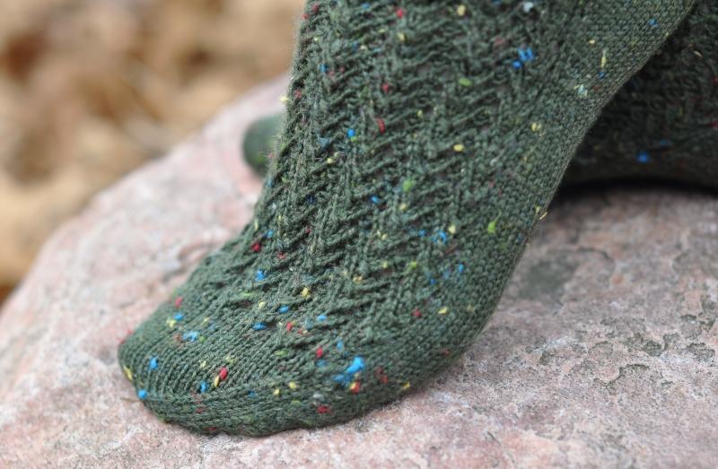 Beach Glass and Seaweed Socks - Lynn Carson Harris