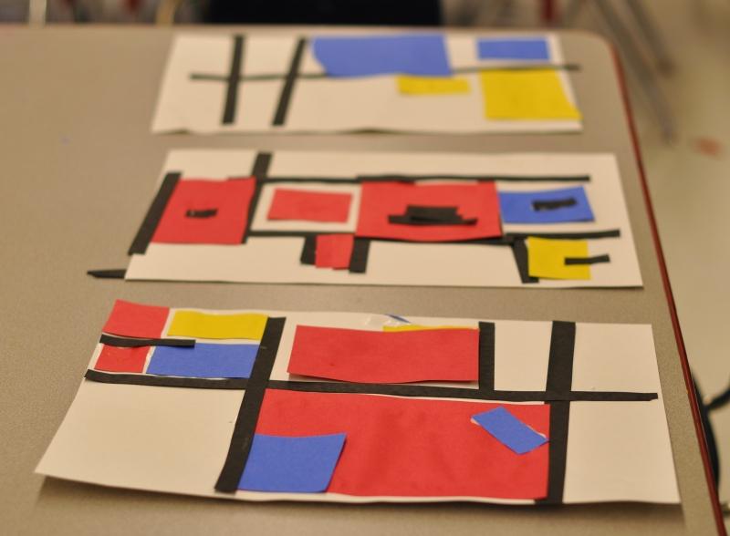 287 Mondrian inspired art