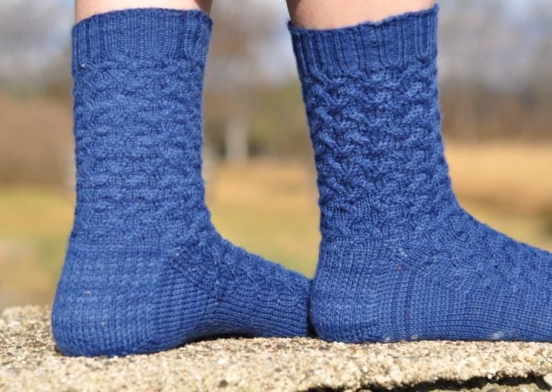 Blue socks side