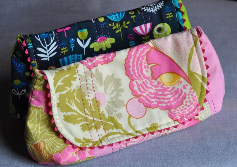 Curvy clutch bags