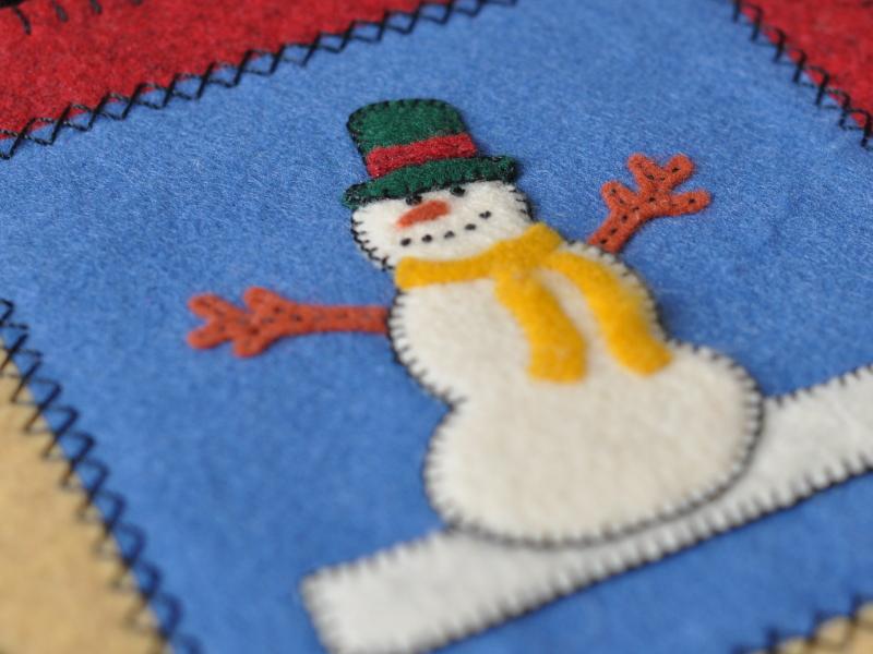 Applique snowman