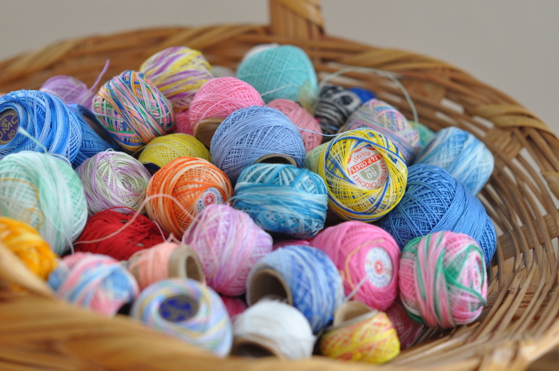 Basket of thread