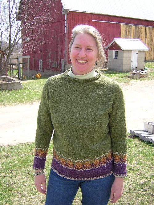 04-04-09 02 Lynn's new sweater