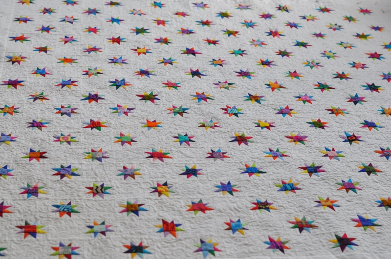 Twinkling stars quilted