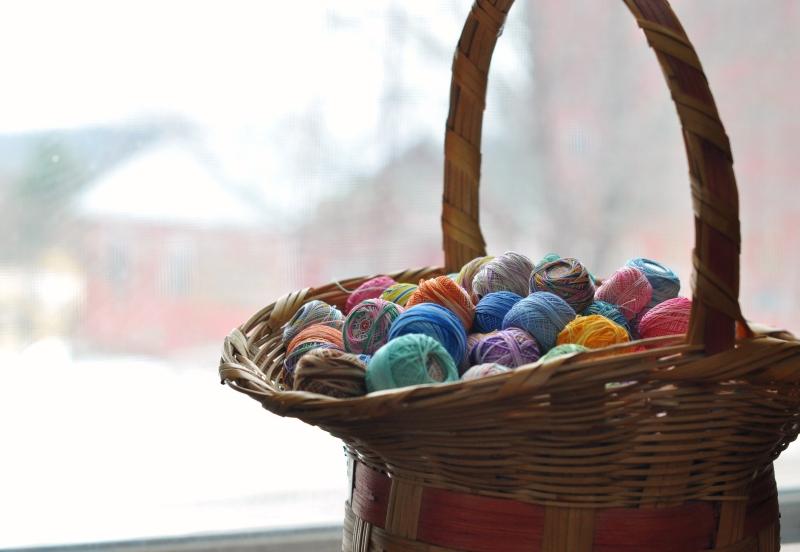 Basket by the window