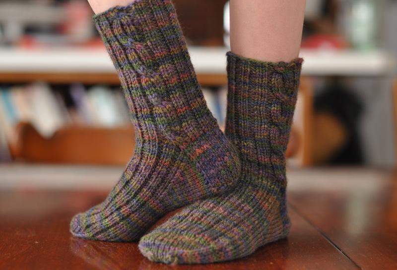 Quick knit boot socks