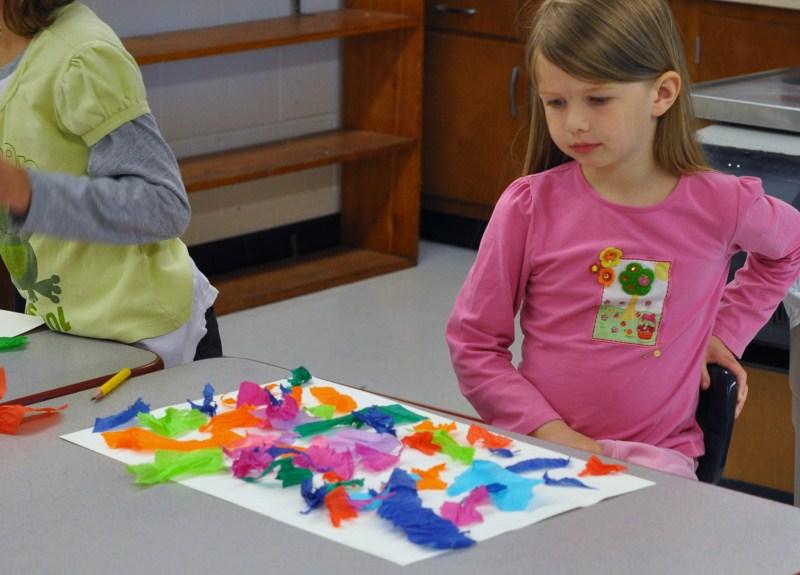 Tisssue paper painting
