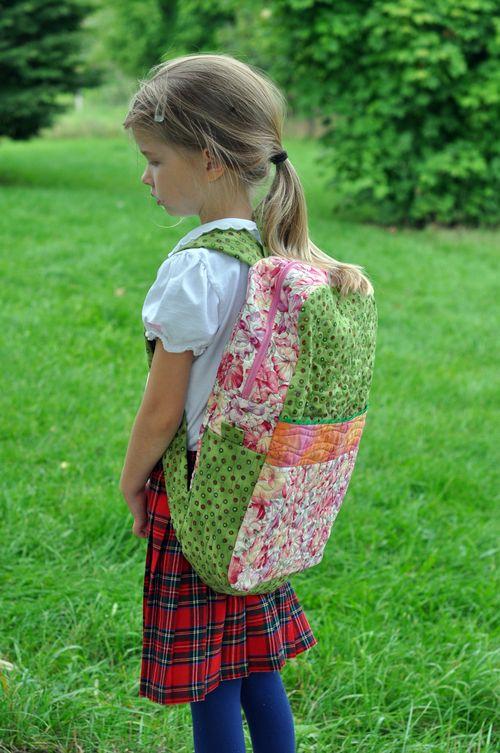 First grade backpack side