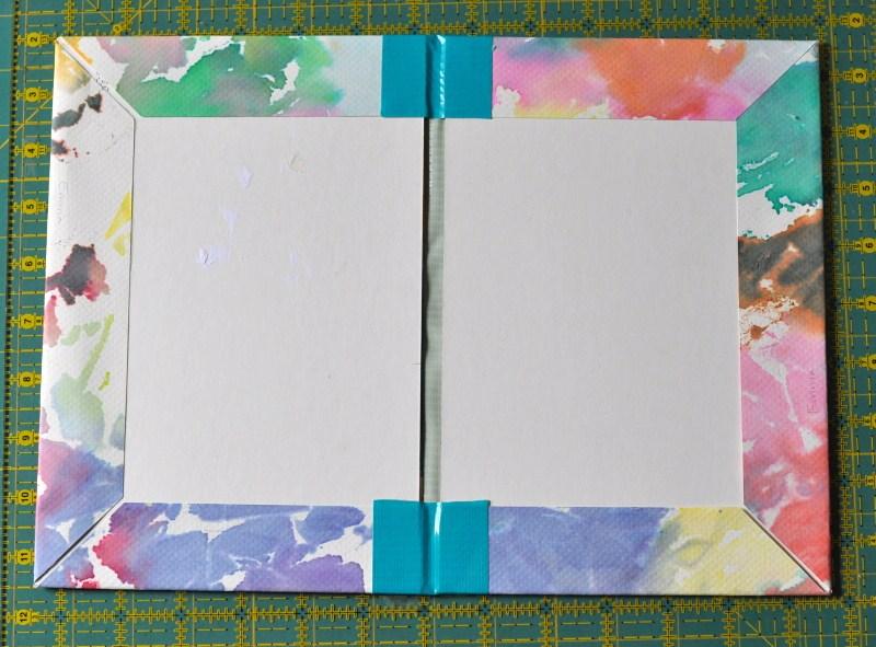 Book binding taped