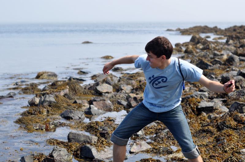 Maine skipping rocks