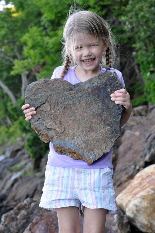 Found heart rock