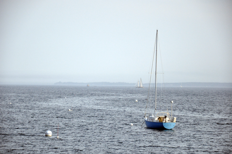 Boat pale blue