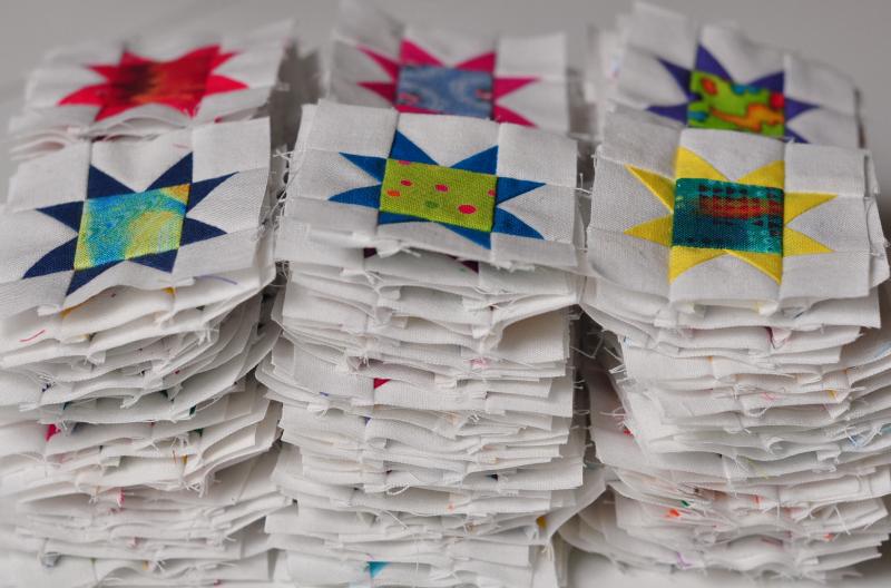 Tiny stars stacked