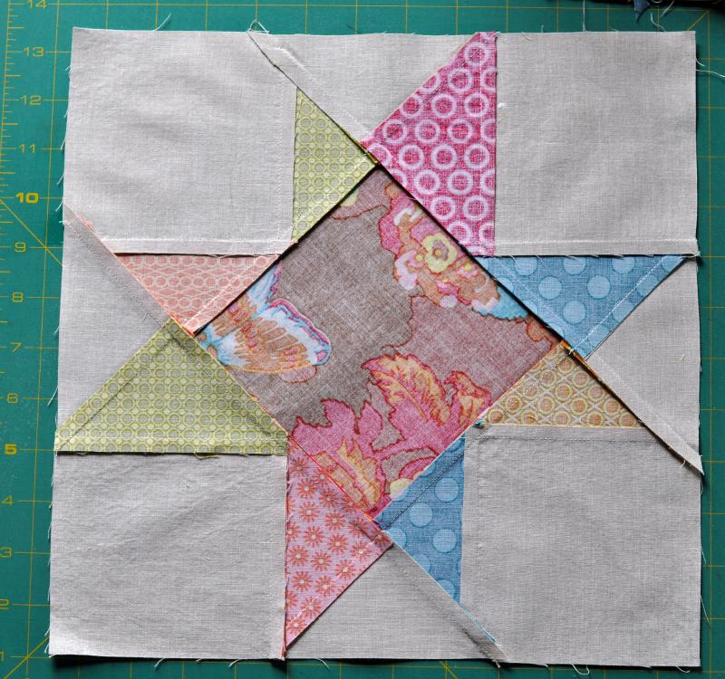 Brenda star block pressed