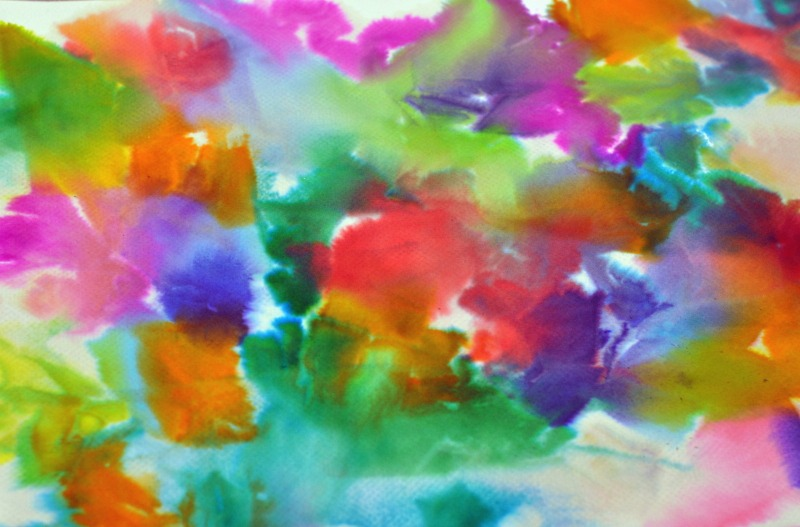 Texture Painting With Tissue Paper Painted With Tissue Paper
