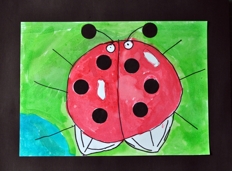 Black dot lady bug