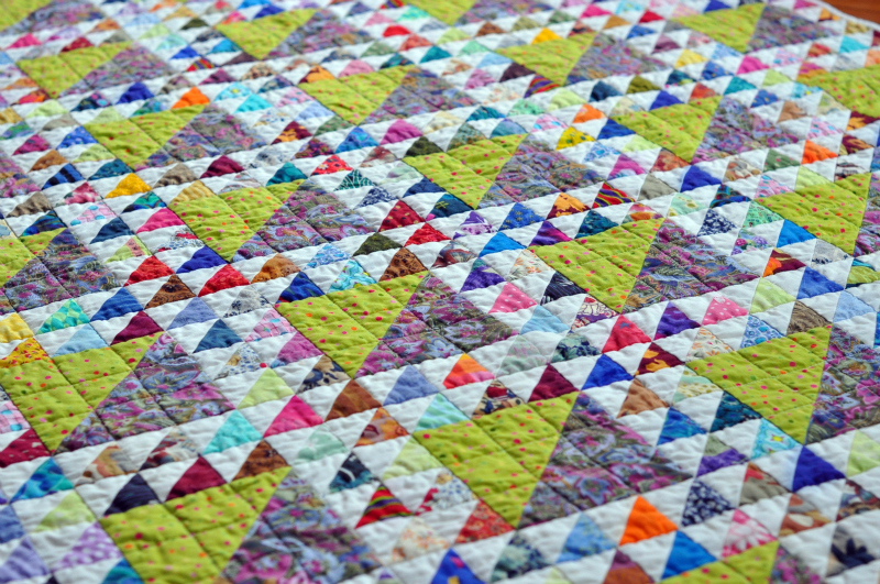 Lady quilting