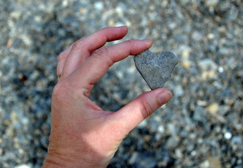 Found little heart rock
