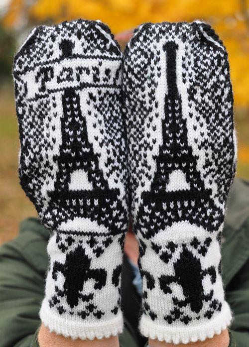 Paris mittens