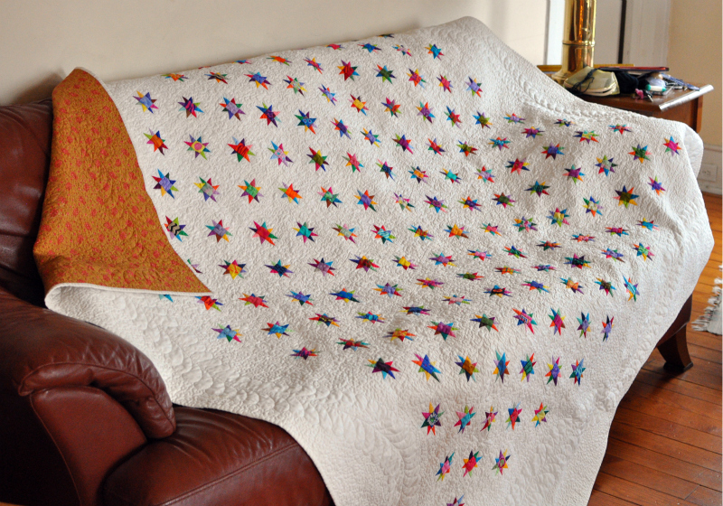 Twinkling Stars on couch