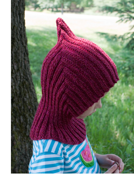 Pixie hat side view