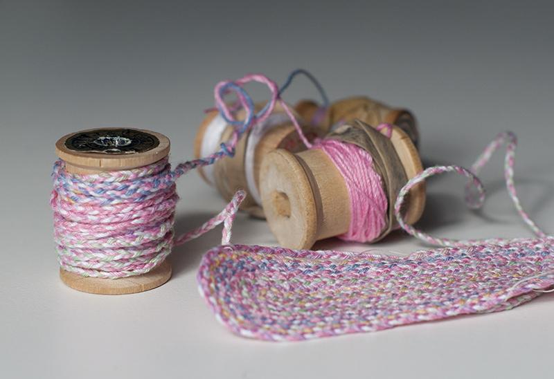 Braided rug spool