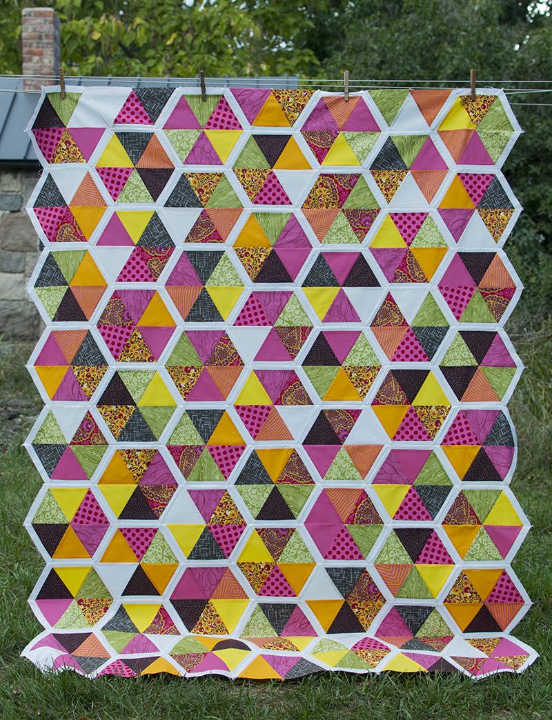 Swiss chard quilt
