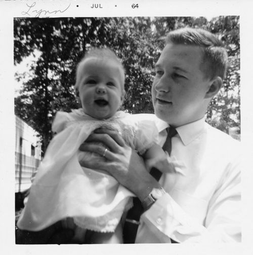 Lynn and dad 1964 old photo