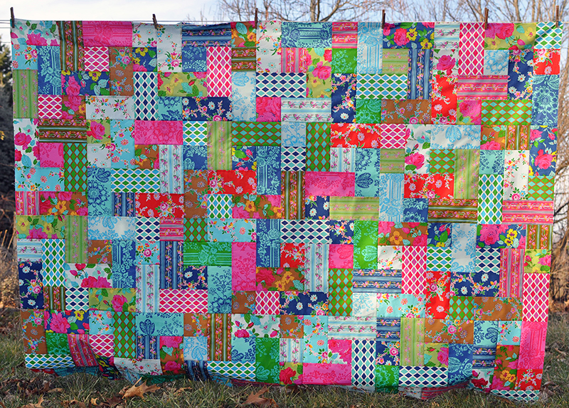 Sis Boom quilt top finished