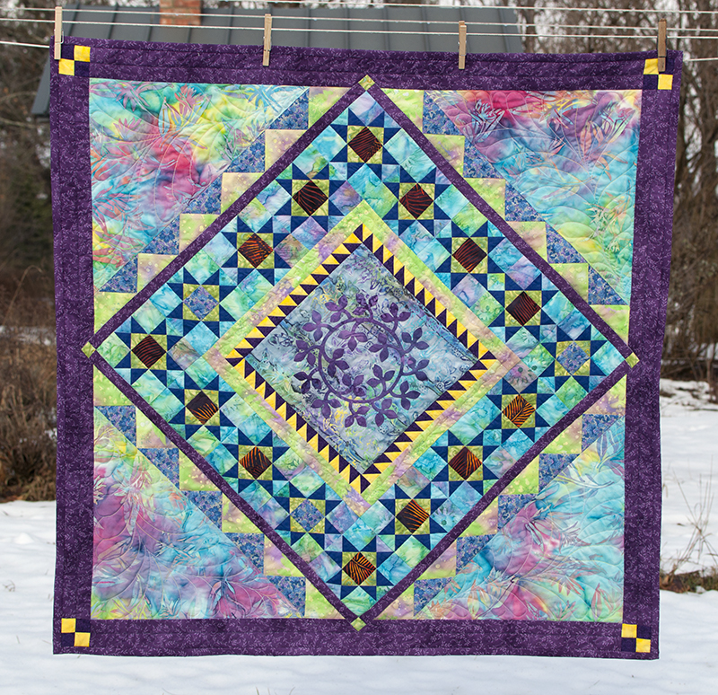 Medallion quilted