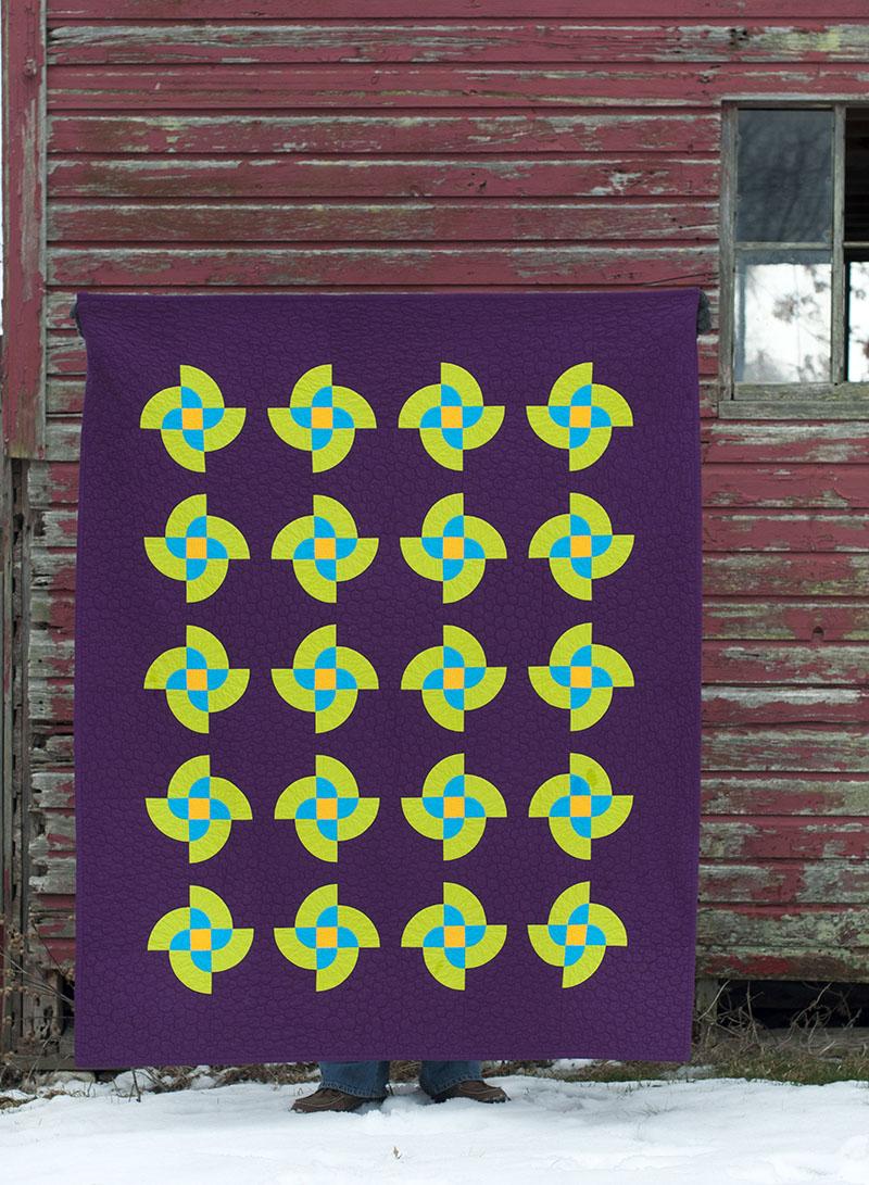 Atomic Pinwheels eggplant