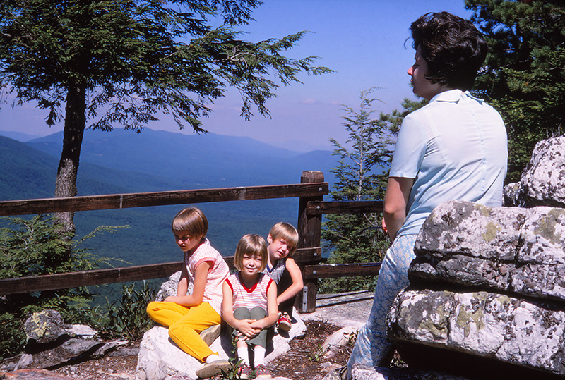 1969 family hiking