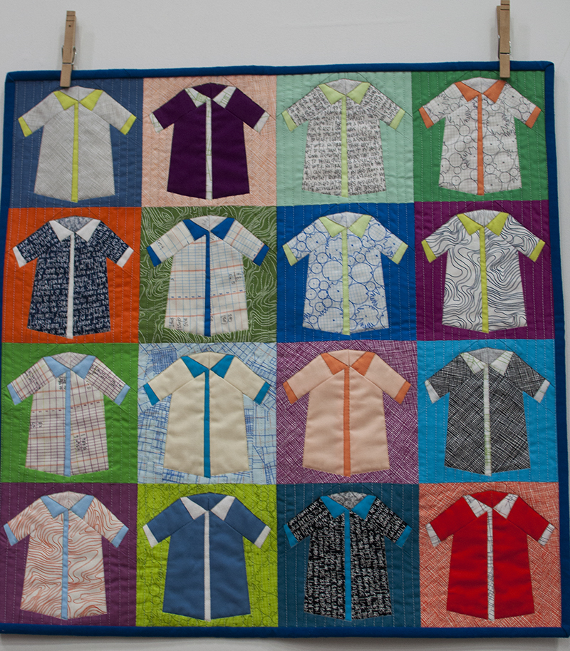 Carolyn Friedlander shirts quilt