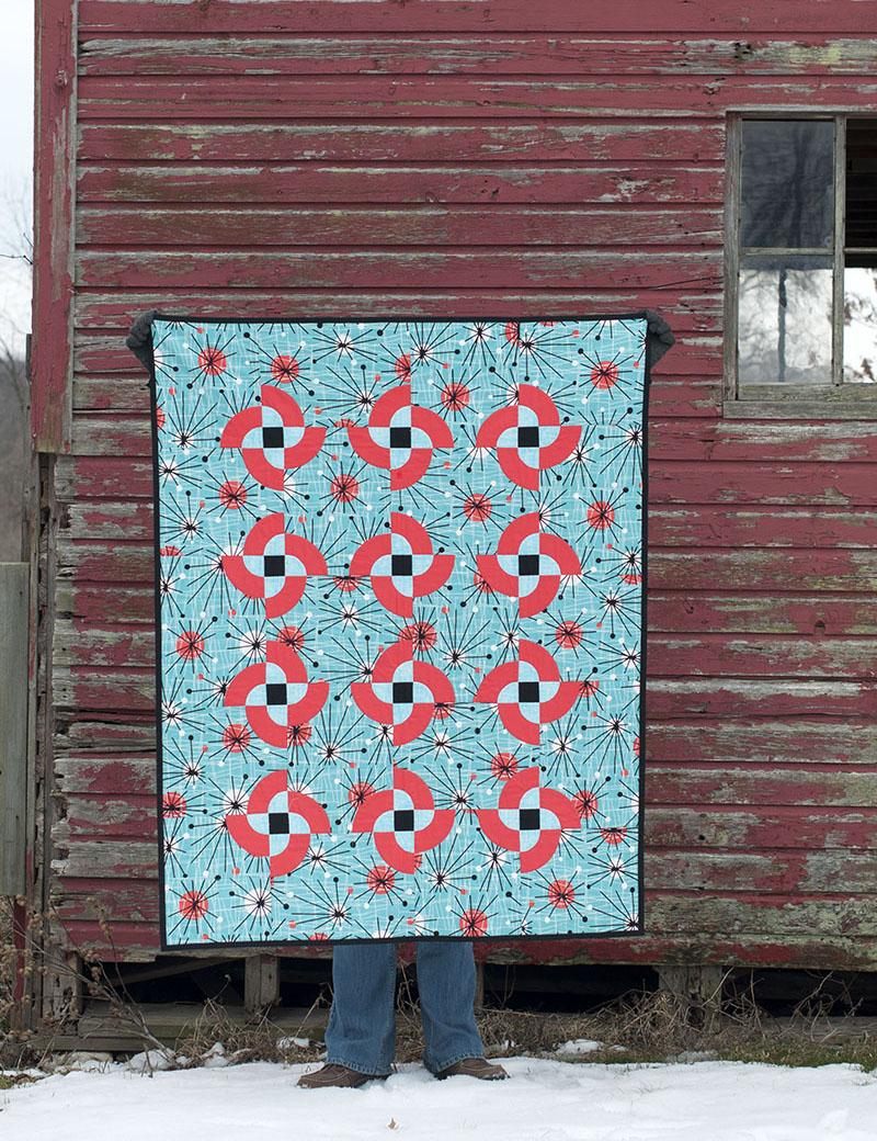 Atomic  pinwheels quilt