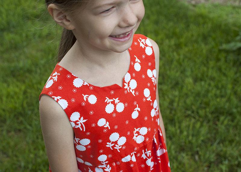 Geranium dress yoke