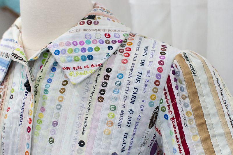 Selvedge dress detail