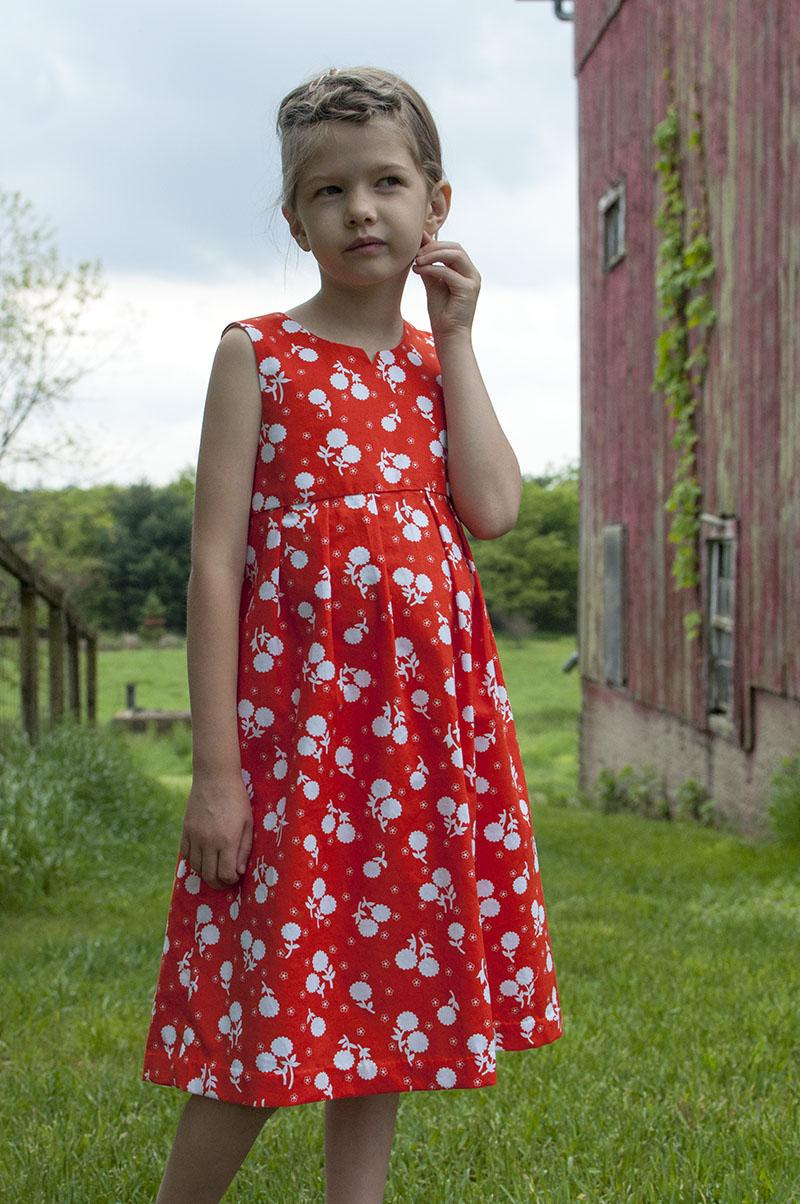 Geranium dress front