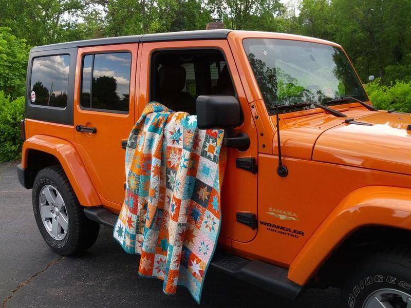 Tealorange and the orange jeep