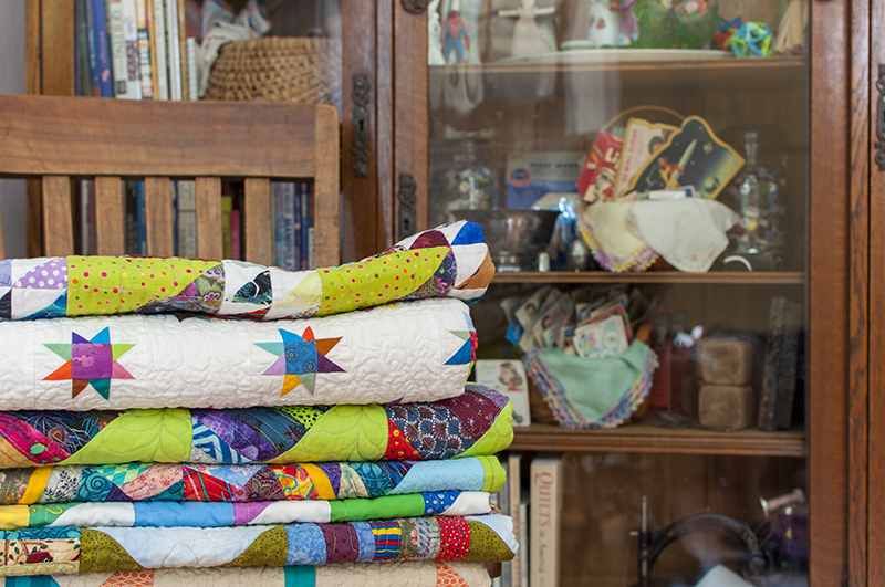 Home - chair with quilts