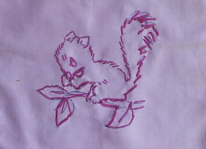 Squirrel stitchery