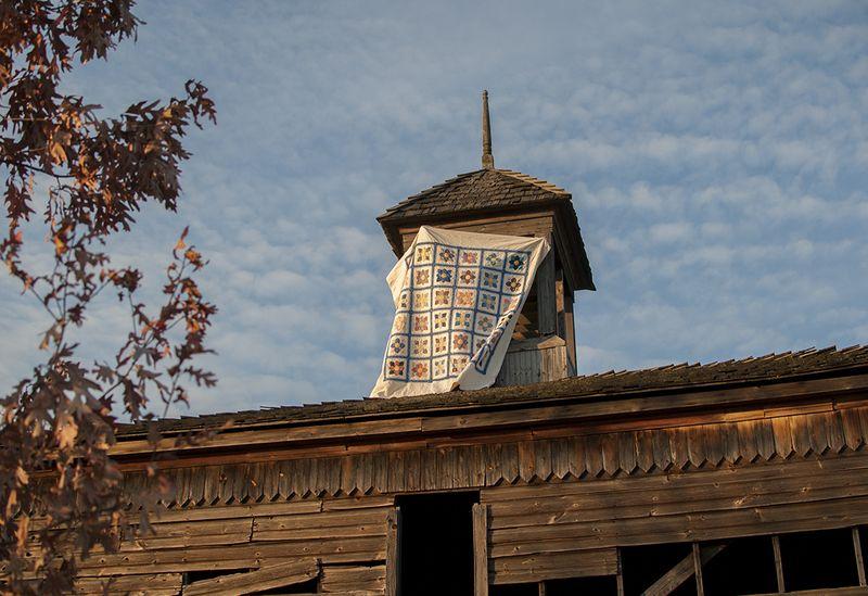 Dahlia quilt cupola
